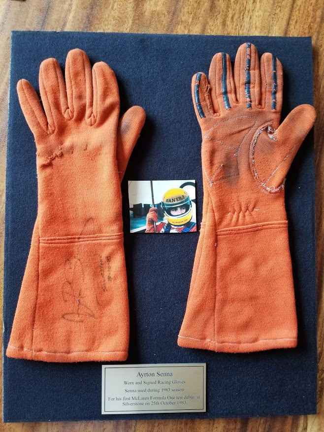 1983 Ayrton Senna da Silva race used gloves signed – Formula 1 ...