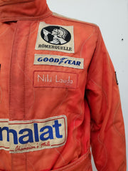 "Niki Lauda race suit and shoes used in the movie ""Rush"" - Formula 1 Memorabilia"