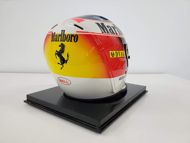 1996 Ferrari Michael Schumacher Official Bell replica helmet signed - sold - - Formula 1 Memorabilia