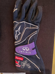 2013 Sebastian Vettel race used gloves Signed