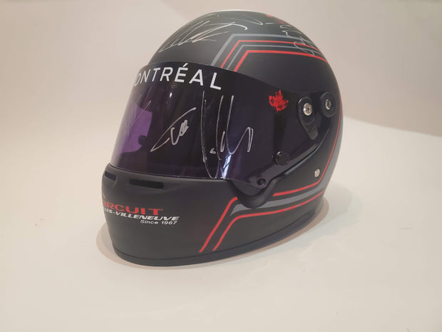2017 Canada GP helmet signed by all 20 drivers