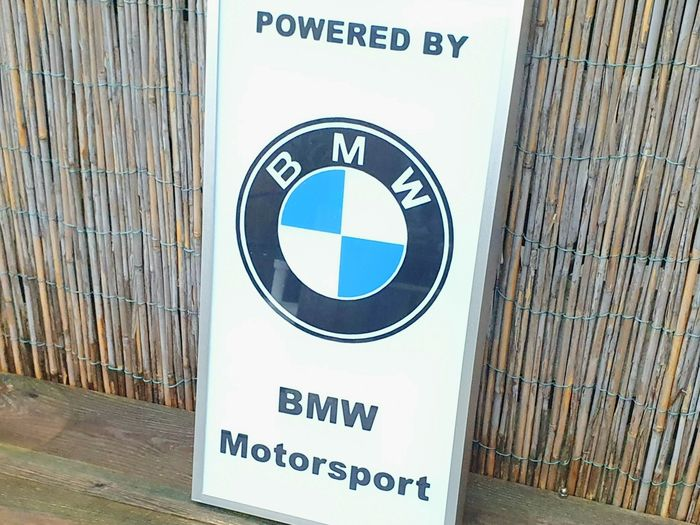 1980s BMW Power dealership illuminated sign