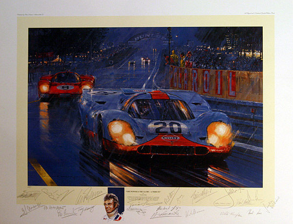 Nicholas Watts - The Power and Glory - Le Mans 1970 - signed by 21 drivers by Nicholas Watts