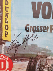 1974 German GP poster signed by Emerson Fittipaldi