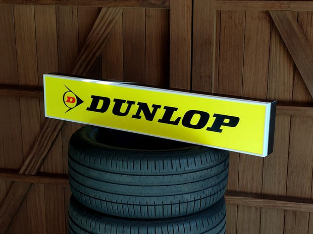 1990s Dunlop official illuminated neon sign
