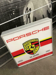 1980s Porsche official dealership illuminated sign