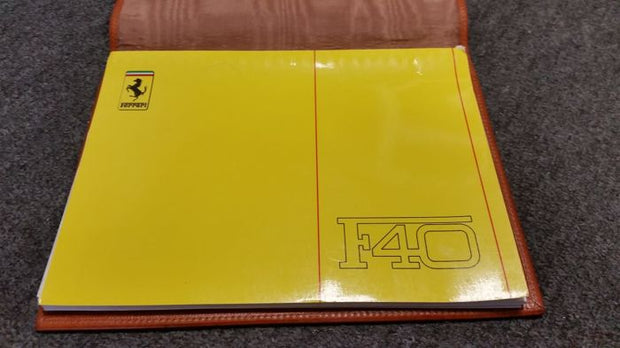 1990 F40 owners manual + Scedoni leather cover - Formula 1 Memorabilia