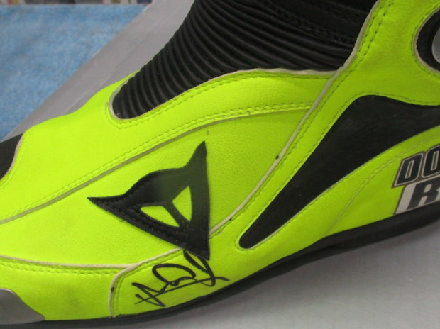 Valentino Rossi signed Dianese Moto GP boot