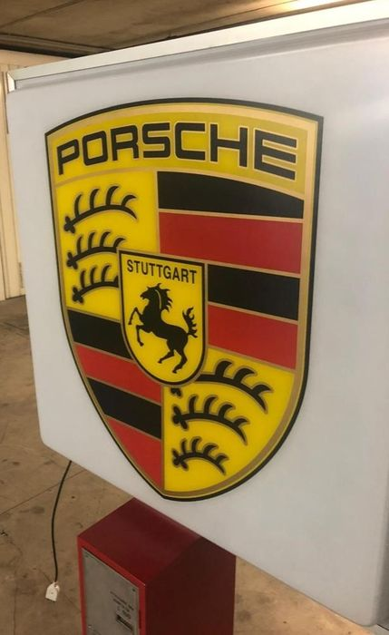 1990s Porsche official dealership illuminated sign