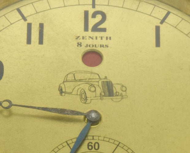 1950's Zenith watch car cockpit clock - Formula 1 Memorabilia