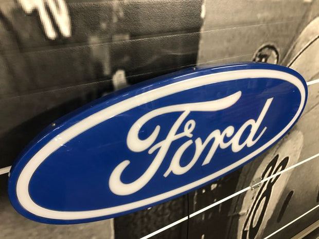 1980s Ford official dealership illuminated sign