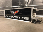 1980s Corvette official dealership illuminated sign