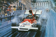 Jean Pierre Beltoise in the BRM P160, Monaco 1972 by Nicholas Watts
