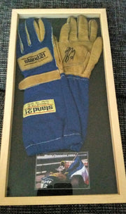 1993 Alain Prost Portuguese GP race used podium gloves signed - SOLD- - Formula 1 Memorabilia