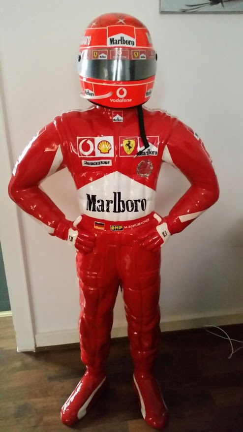 Michael Schumacher sculpture - SOLD - - Formula 1 Memorabilia