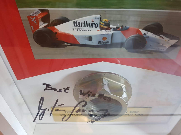 1992 Ayrton Senna MP4/7 wheel nut - Formula 1 Memorabilia