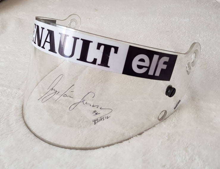 1994 Ayrton Senna test used clear visor signed by Senna - Just arrived -