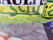 1994 Ayrton Senna test used clear visor signed by Senna - Sold -