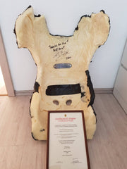 2000 Michael Schumacher Ferrari F2000 test seat shell seat signed