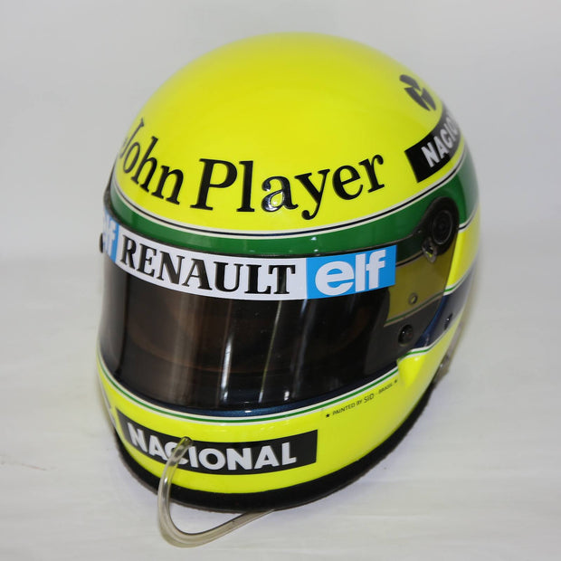 1985 Ayrton Senna replica Bell helmet Dutch GP