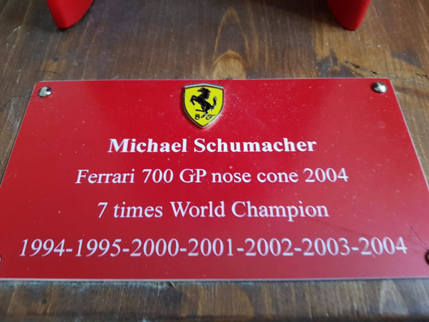 2002 Michael Schumacher Ferrari nosecone multi signed replica