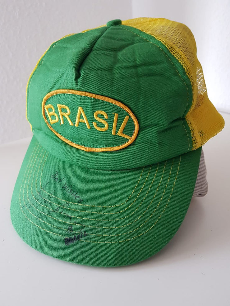 1990 Brazil hat signed by Ayrton Senna