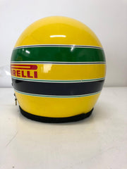 1984 Ayrton Senna Bell replica Helmet with radio system signed