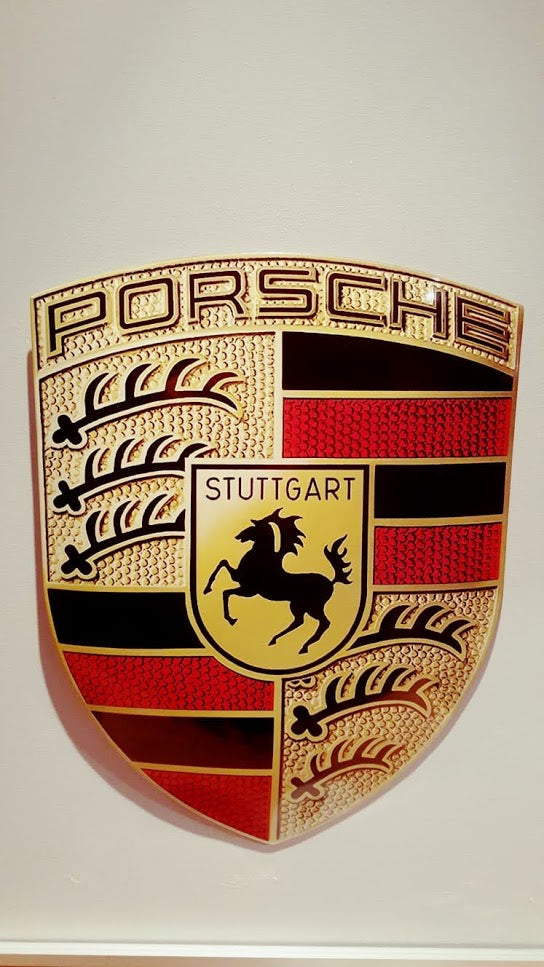 2013 Porsche official Enamel dealer sign
