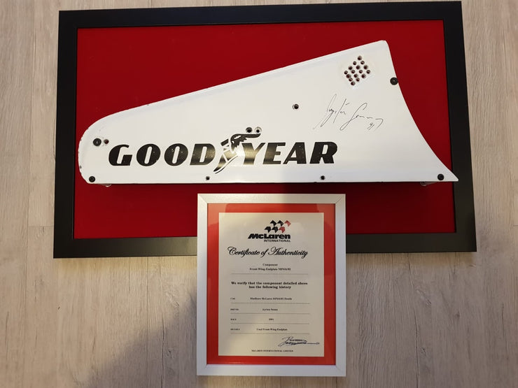 1991 Ayrton Senna front wing endplate - just received -