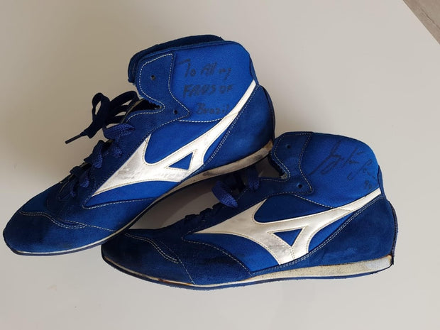 1994 Ayrton Senna Brazil GP RunBird shoes Signed