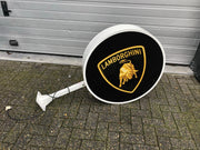 1990s Lamborghini official dealership double side illuminated sign - SOLD -