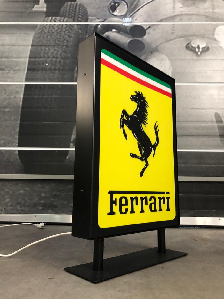1980's Ferrari official dealer illuminated sign - SOLD -