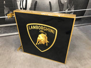 1990s Lamborghini official dealership double side illuminated sign