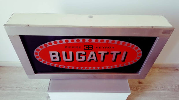 1980s Bugatti illuminated sign