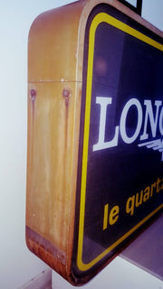 1980s Longines official dealer double side illuminated sign