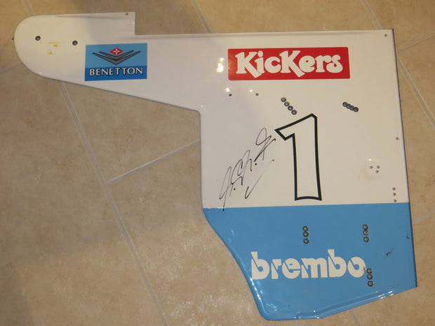 1995 Michael Schumacher Benetton end plate (Just arrived!!) - Formula 1 Memorabilia