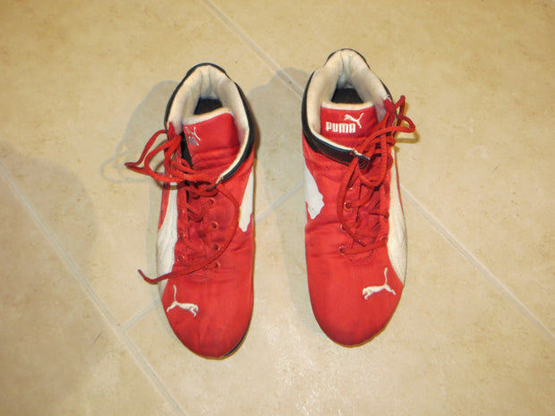 Michael Schumacher Puma race shoes Signed - Formula 1 Memorabilia