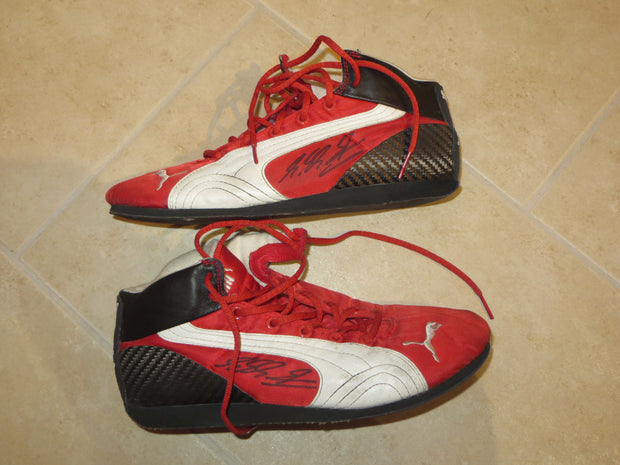 2004 Michael Schumacher Puma race shoes Signed - Formula 1 Memorabilia