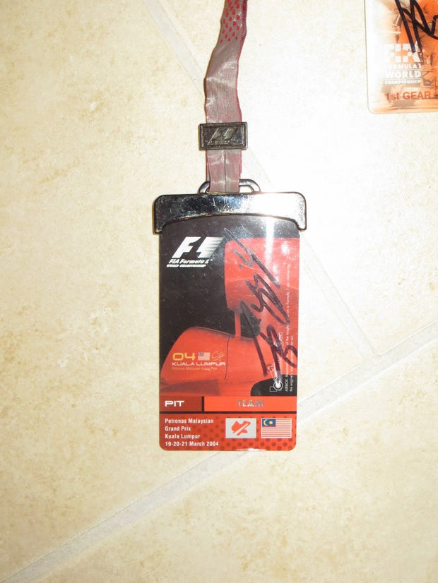 2004 Michael Schumacher Maylasian GP pass