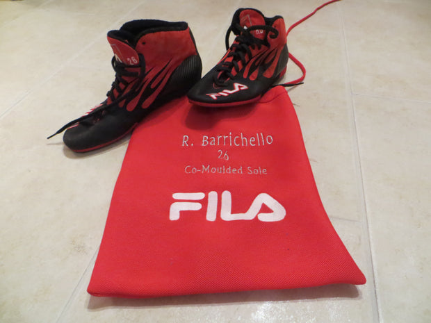 Rubens Barrichello FILA Nomex race used shoes Signed - Formula 1 Memorabilia
