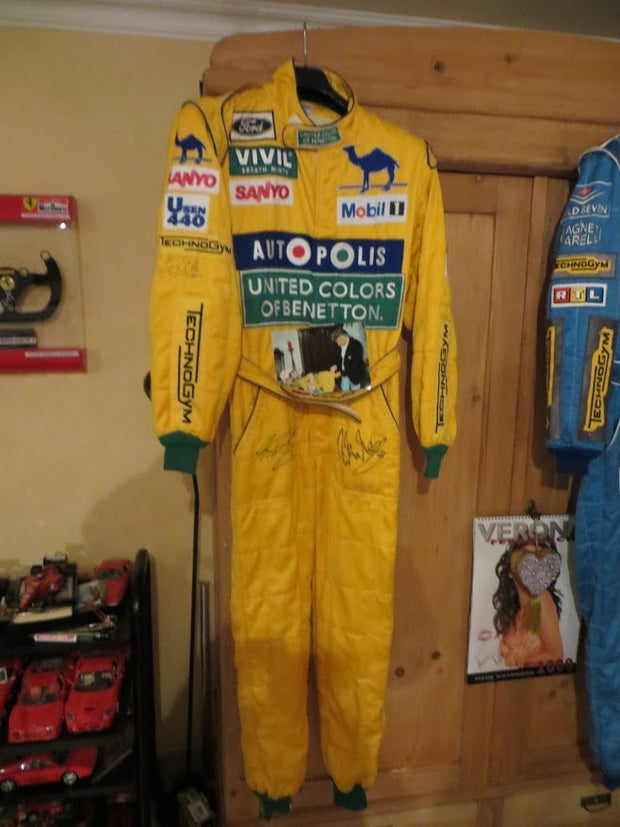 1992 Michael Schumacher FIRST WIN SPA GP race used suit - Formula 1 Memorabilia
