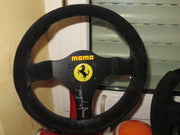 1991 Jean Alesi Ferrari steering wheel replica signed