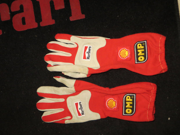2001 Michael Schumacher Hungarian GP race used OMP winner gloves - Formula 1 Memorabilia