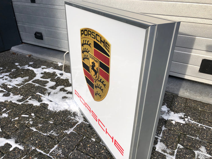 2000s Porsche dealership illuminated sign