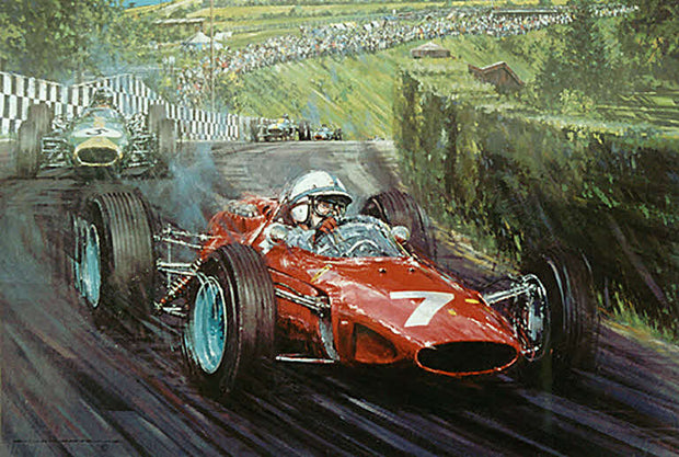 John Surtees in the Ferrari 158, Nuerburgring 1964 by Nicholas Watts