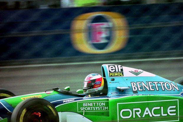 1994 Michael Schumacher British GP race used helmet - Formula 1 Memorabilia
