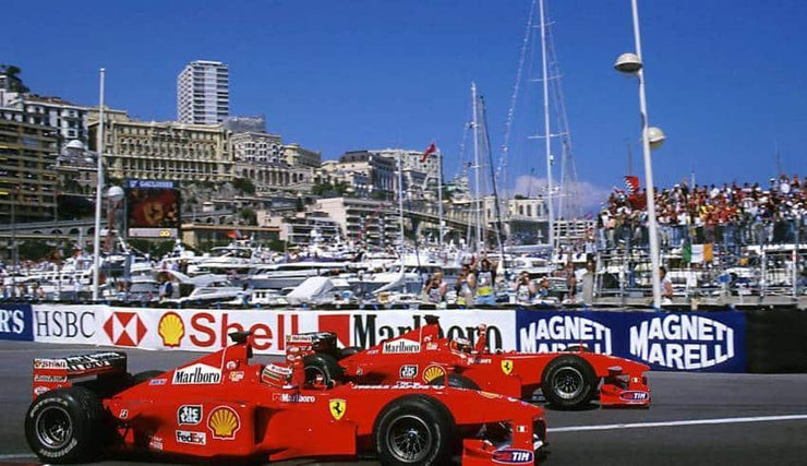 """Schumacher Triumphant"" 1999 Monaco GP – Signed by MICHAEL SCHUMACHER and Nicholas Watts - Formula 1 Memorabilia"