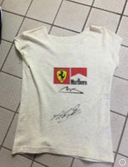 2002 Michael Schumacher worn and signed Ferrari  shirt - Formula 1 Memorabilia