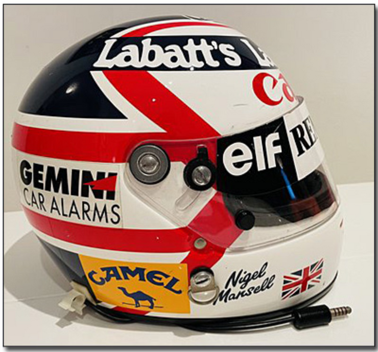 1991 Nigel Mansell Monza winner race used helmet