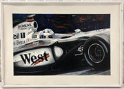 Coulthard McLaren painting after Peter Eisenreich - Formula 1 Memorabilia